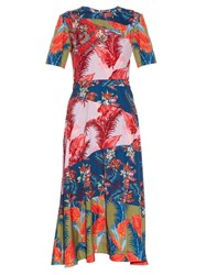 House Of Holland Floral Print Crepe De Chine Dress