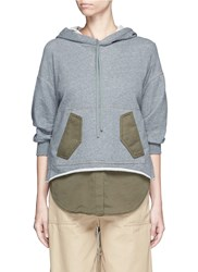 3.1 Phillip Lim Twill Panel French Terry Utility Sweatshirt Grey