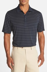 Men's Cutter And Buck 'Franklin' Drytec Polo Navy Blue White