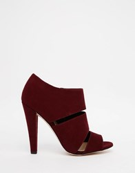 Paper Dolls Theron Strap Heeled Sandals Burgundy Red
