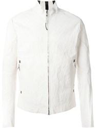 Isaac Sellam Experience Creased Zipped Jacket White