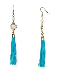Aqua Charlie Fringe Drop Earrings Turquoise