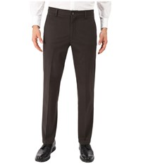 Dockers Signature Khaki D1 Slim Fit Flat Front Coffee Bean Stretch 2 Men's Dress Pants Brown