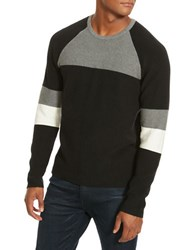 Kenneth Cole Colorblock Crewneck Sweater Black
