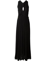 Jay Ahr Rope Detail Evening Dress Black