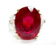 Bayco Ruby And Diamond Ring Red