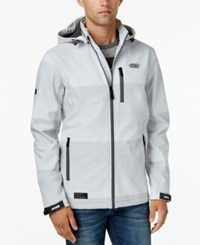 Point Zero Men's Soft Shell Fleece Lined Wind And Water Resistant Jacket Light Grey