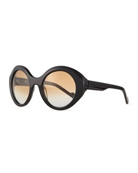 Courreges Round Cat Eye Sunglasses
