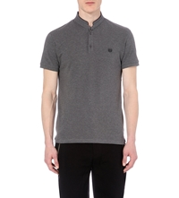 The Kooples Cotton Polo Shirt Middle Grey Black