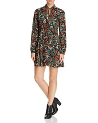 Romeo And Juliet Couture Tie Neck Print Dress Compare At 130 Red