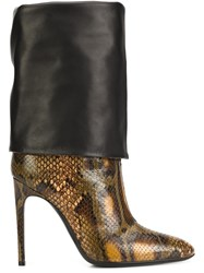 Pollini Snakeskin Effect Boots Black