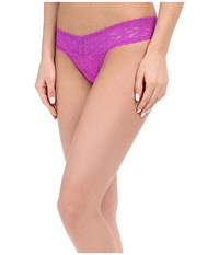 Hanky Panky Signature Lace Low Rise Thong Wild Orchid Women's Underwear Purple