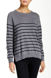 Acrobat Striped Silk Blend Pullover Gray