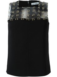 Paco Rabanne Eyelet Trim Top Black