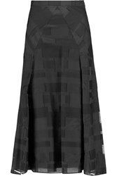 Vionnet Fil Coupe Silk Midi Skirt Black