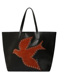 Red Valentino Leather And Suede Robin Tote Bag