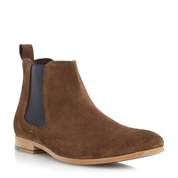Linea Suede Lace Up Chelsea Boots Brown