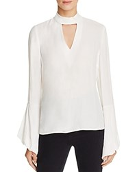 Bardot Edie Bell Sleeve Cutout Blouse Ivory