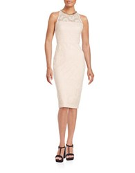 Jessica Simpson Lace Midi Dress Pink