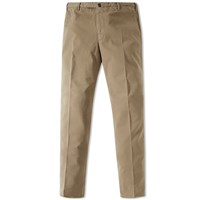 Incotex Slim Garment Dyed Chino Brown