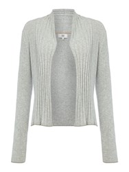 Noa Noa Basic Cotton Melange Cardigan Grey Marl