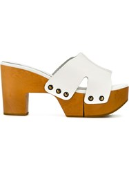 Robert Clergerie Mule Sandals White