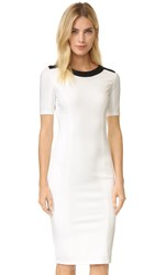 Ali And Jay Contrast Ponte Sheath Dress White Black