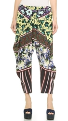 Clover Canyon Floral Collage Pants Yellow