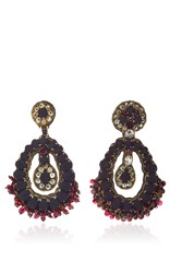 Ranjana Khan Black Amethyst Earrings