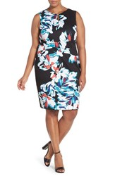 Plus Size Women's Ellen Tracy Crisscross Front Floral Sheath Dress