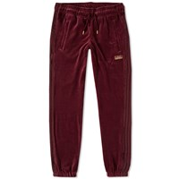 Adidas Velour Cuffed Track Pant Purple