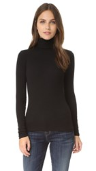 J Brand Centro Ribbed Turtleneck Black