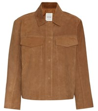 Wood Wood Tessa Suede Jacket Brown