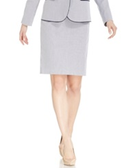Jones New York Signature Petite Pinstripe Pencil Skirt