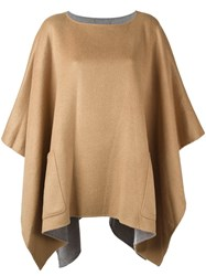 Michael Michael Kors Front Pocket Poncho Nude And Neutrals