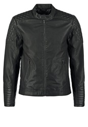 Jack And Jones Jack And Jones Jjcozach Regular Fit Faux Leather Jacket Black