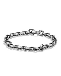 Men's Silver Chain Bracelet David Yurman Red