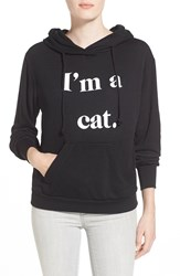 Wildfox Couture 'I'm A Cat' Hoodie Heather Jet Black