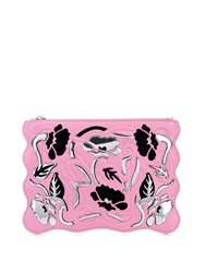 Christopher Kane Art Nouveau Embossed Leather Clutch