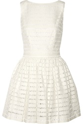 Thakoon Lace Trimmed Textured Knit Mini Dress