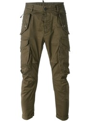 Dsquared2 'Rainbow' Cargo Trousers Green