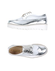 Mr. Wolf Footwear Lace Up Shoes Women Silver