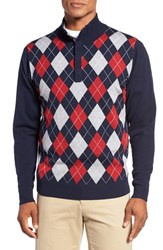Bobby Jones Men's Argyle Merino Wool Mock Neck Sweater