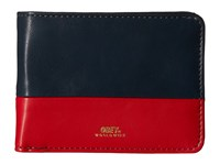 Obey Gentry Deuce Bi Fold Wallet Navy Red Wallet Multi