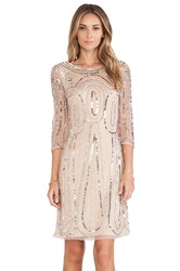 Raga Long Sleeve Sequin Dress Beige