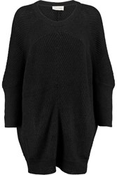 American Vintage Lubbork Oversized Ribbed Knit Sweater Black