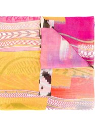 Lala Berlin 'Collage' Printed Scarf Multicolour
