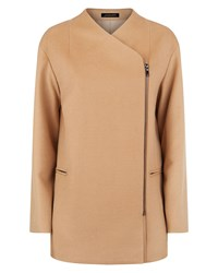 Jaeger Wool Zip Detail Coat Camel
