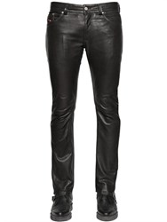 Diesel 18Cm Thavar Slim Fit Nappa Leather Pants