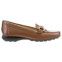 Geox Euro Buckle Slip On Loafers Camel